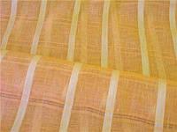 Льняная ткань для штор оранжевого цвета (шир. 165 см)