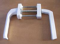 Ручка балконная с узкой наружной розеткой, белая., фото 1