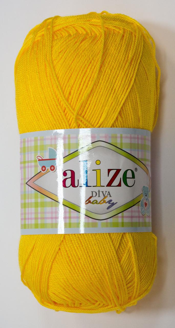 Пряжа diva - цвет желтый