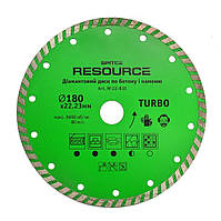 "Алмазный диск ""TURBO"", 115 мм, Resource"