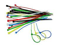Набор цветных стяжных ремешков 2.5х150 мм, 30 шт