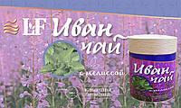 ИВАН ЧАЙ ферментирован., гранулированю 100г с МЕЛИССОЙ  в подарочной экологичной упаковке из натурального бука