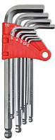 Набор ключей имбусовых с шаром, Cr-V, 9шт. (1,5–10 мм)