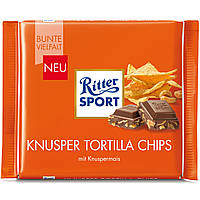 Шоколад Ritter Sport Knusper Tortilla Chips (Риттер Спорт с чипсами), 100 г, фото 1
