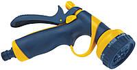 Пистолет-распылитель 8-позиционный пластиковый с фиксатором потока, Verano