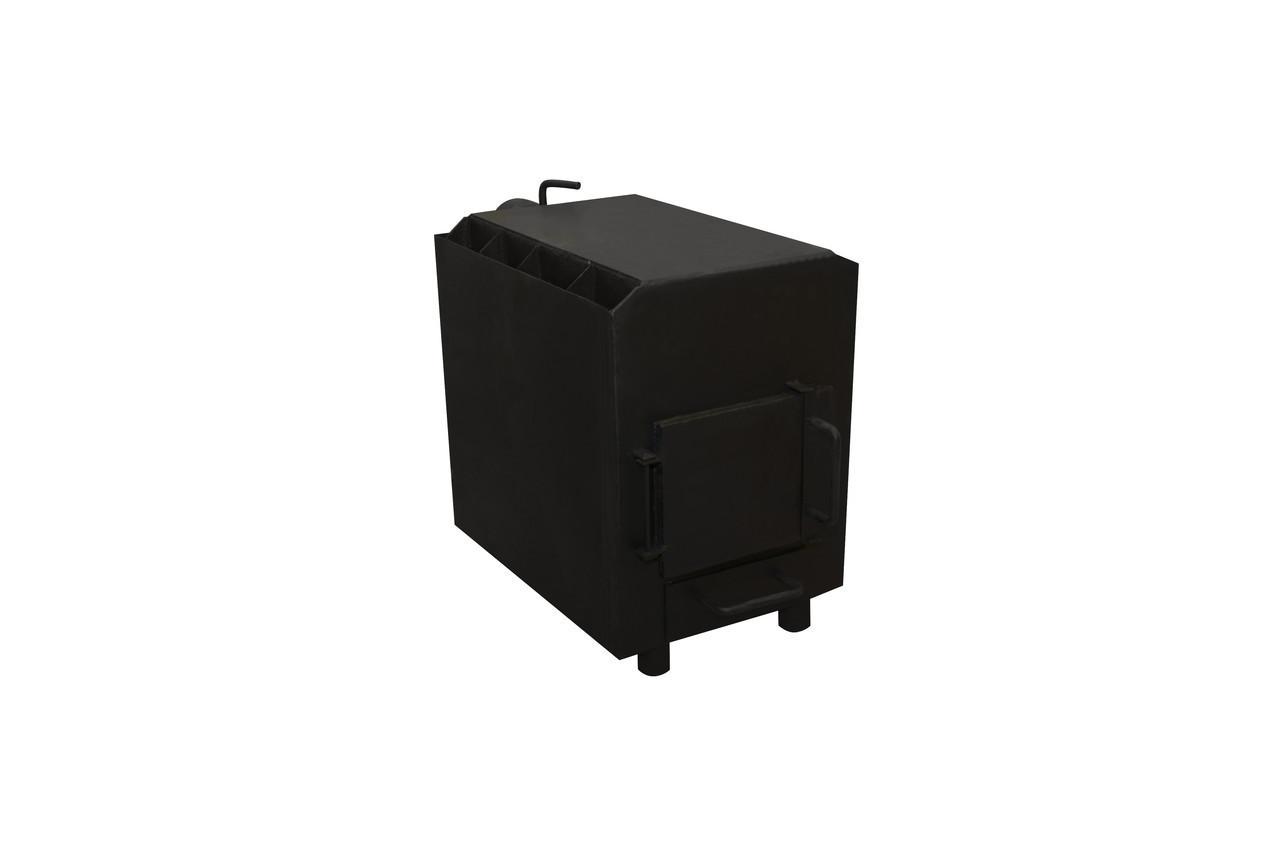 Печь с дополнительным дожигом пиролизного газа с варочной поверхностью