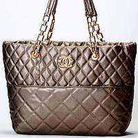 Женская сумка CHANEL темно серая