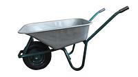 Тачка строительная одноколесная, объем вода/песок 90/170 л, грузоподъемность 160 кг,  вес 15 кг