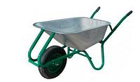 Тачка строительная одноколесная, объем вода/песок 90/170 л, грузоподъемность 200 кг,  вес 15 кг