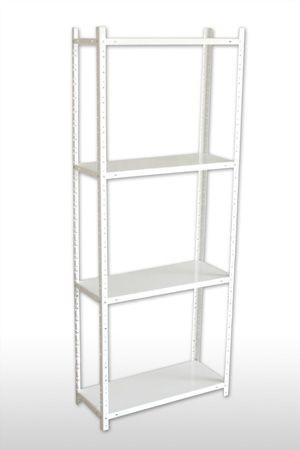 Стеллаж металлический 1850x900x400 мм белый, окрашенный