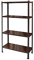 Стеллаж металлический 1500x750x300 мм коричневый, окрашенный