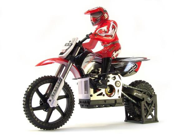 Мотоцикл 1:4 Himoto Burstout MX400 Brushed (красный) СЕРТИФИКАТ В ПОДА