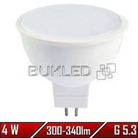 Светодиодная лампа 4Вт, 220 В, G 5.3, 300-340 Лм, Mr16