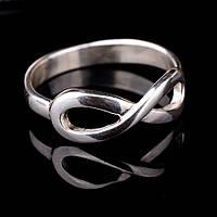 """Женское серебряное кольцо """"бесконечность"""""""