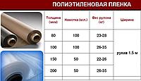 Пленка полиэтиленовая 80 мкн рулон 300м2