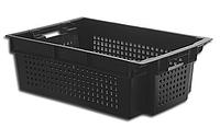 Ящик пластиковый перфорированный со сплошным дном 600х400х200 ЯПМ 05 от 24 шт