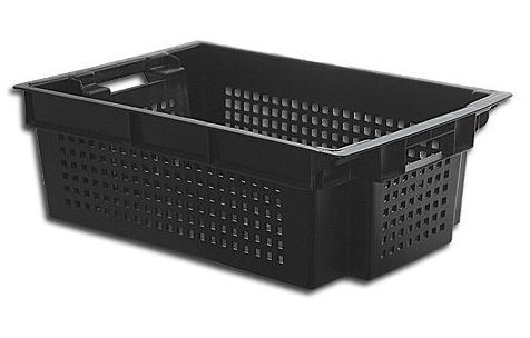 Ящик пластиковый перфорированный со сплошным дном 600х400х200 ЯПМ 05 о