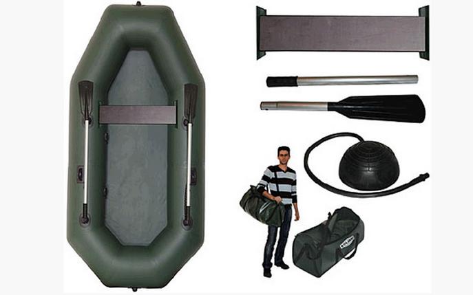 Резиновая лодка надувная одноместная гребная 210*105 см(Kolibri) К-210 СуперЛайт+Бесплатная доставка, фото 2
