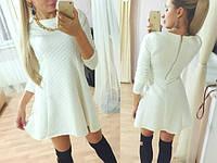 Платье теплое из стеганного трикотажа