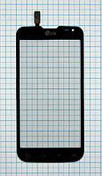 Тачскрин сенсорное стекло для LG Optimus L90 D410 Dual black