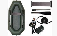 Резиновая лодка надувная одноместная гребная 220*130 см Колибри (Kolibri) К-220 Стандарт