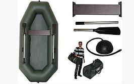 Резиновая лодка надувная одноместная гребная 220*130 см Колибри К-220 Т +Бесплатная доставка