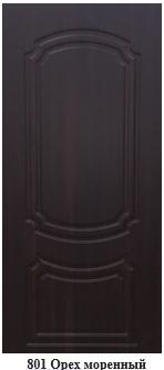 Двери входные  металлические Престиж Орех моренный (с МДФ накл.)