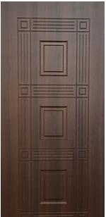 Двери входные  металлические Престиж Орех (с МДФ накл.)