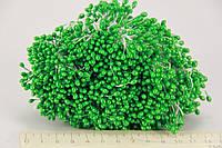 Цветочная тычинка  0,3см  зеленая 1800шт