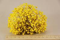 Цветочная тычинка с блестками желтая 0,5см  850шт
