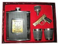 Мужской подарочный набор фляга стопки зажигалка