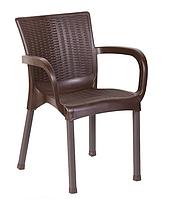 Кресло Орхидея под ротанг коричневое стул пластиковый