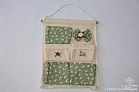 Карманчик кухонный льняной Зеленый, арт. ALT-01