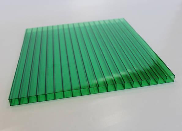 Сотовый поликарбонат зеленый 4мм Oscar (Оскар), фото 2
