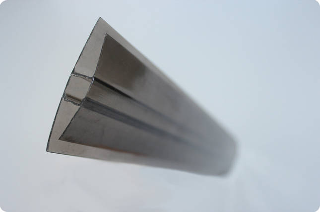 НР-Соединительный профиль для поликарбоната бронза 8мм, фото 2