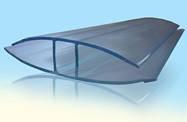 НР-Соединительный профиль прозрачный 10мм для поликарбонатных листов