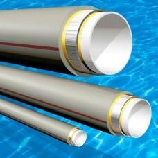 Труба полипропиленовая D 63 х 7,00 армированная алюминием PPR-AL-PPR У