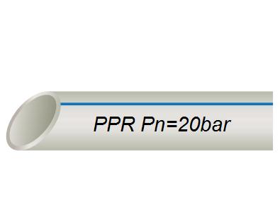 Труба полипропиленовая D 20 Х 2,8 VS® PPR PIPE PN 16 для холодной