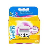 Картриджи Gillette Venus & Olay Оригинал  4 шт в упаковке производство   Польша