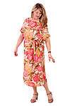 """Легкие платья , шелковое платье """"Пионы"""", пл 048., фото 2"""
