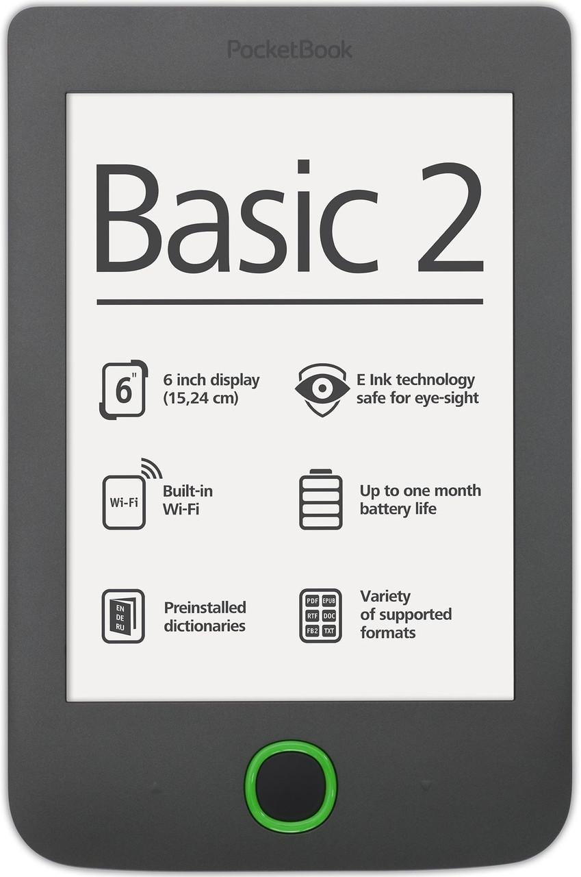Электронная книга Pocketbook Basic 2 (614) Black - LED-Expert: компьютерная и бытовая техника (телевизоры, ноутбуки, планшеты), фитолампы для растений в Киеве