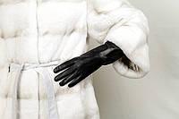 Перчатки кожаные женские длинные 02