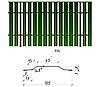 Металлический штакетник двусторонний РЕ, 0,45мм