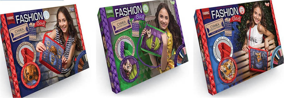 """Набор для творчества """"Fashion Bag"""" (вишивка мулине), Danko Toys ОО-09115, фото 2"""