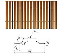 Евроштакетник металлический глянец, 0,26мм