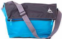 Надежная городская сумка 13-20 л  One polar W5637 качественная серо-голубая