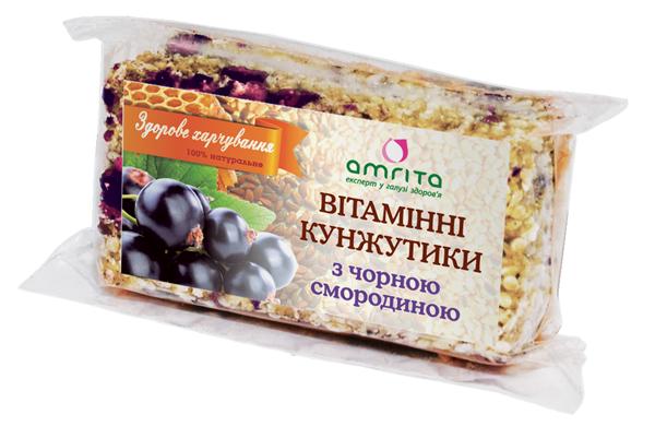 Витаминные кунжутики amrita® с черной смородиной, 45 г (одна упаковка – 3 пластинки) - kupuy.net  в Житомирской области