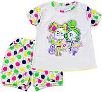 Комплект для девочки (футболка+шорты) р.92-122