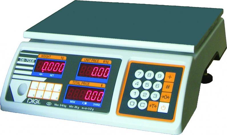 Весы торговые  DIGI DS 700E B 30 кг (RS232), фото 2