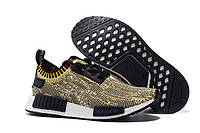 Женские кроссовки Adidas Originals NMD Runner Primeknit Black Yellow